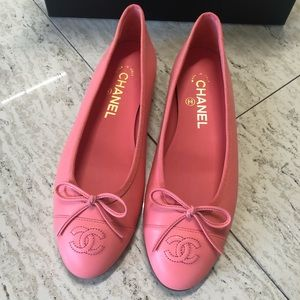 Chanel Classic Ballet Flats Pink 37.5